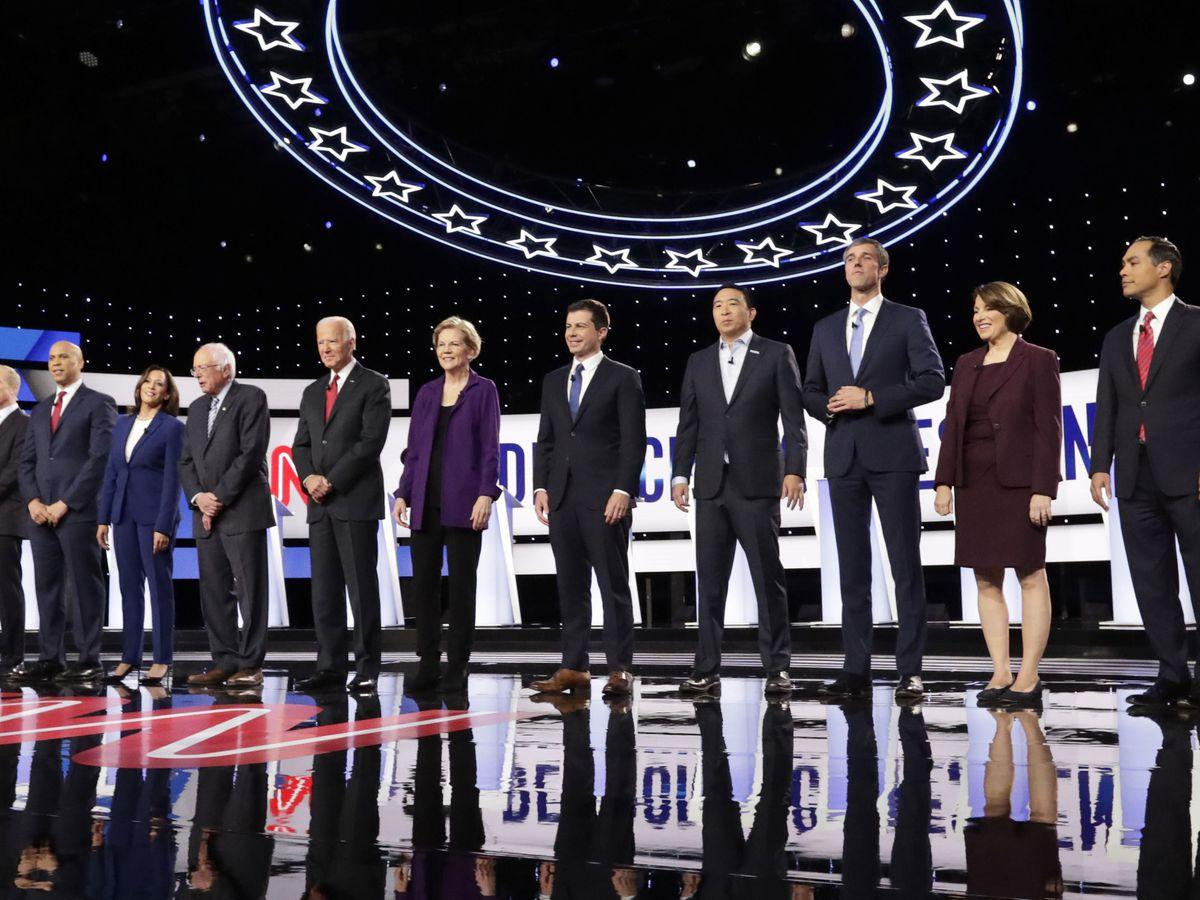 AP FACT CHECK: Dems debate on guns, Syria, health care