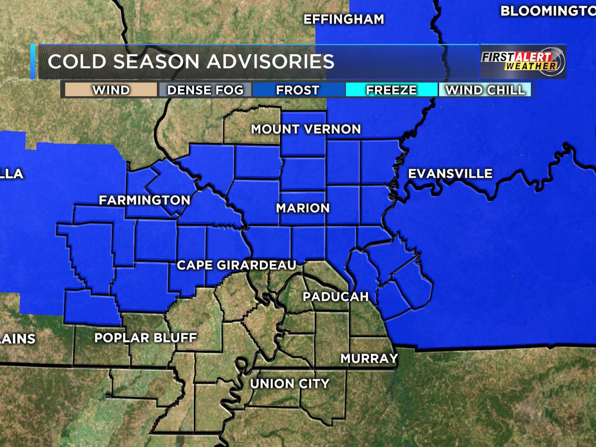 First Alert: Frost Advisory for most of Heartland