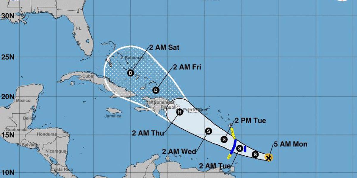Tropical Storm Dorian strengthens, threatening the Caribbean islands