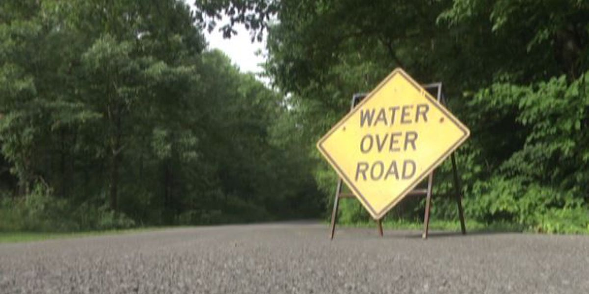 Water over road in McCracken Co., KY 1255 closed