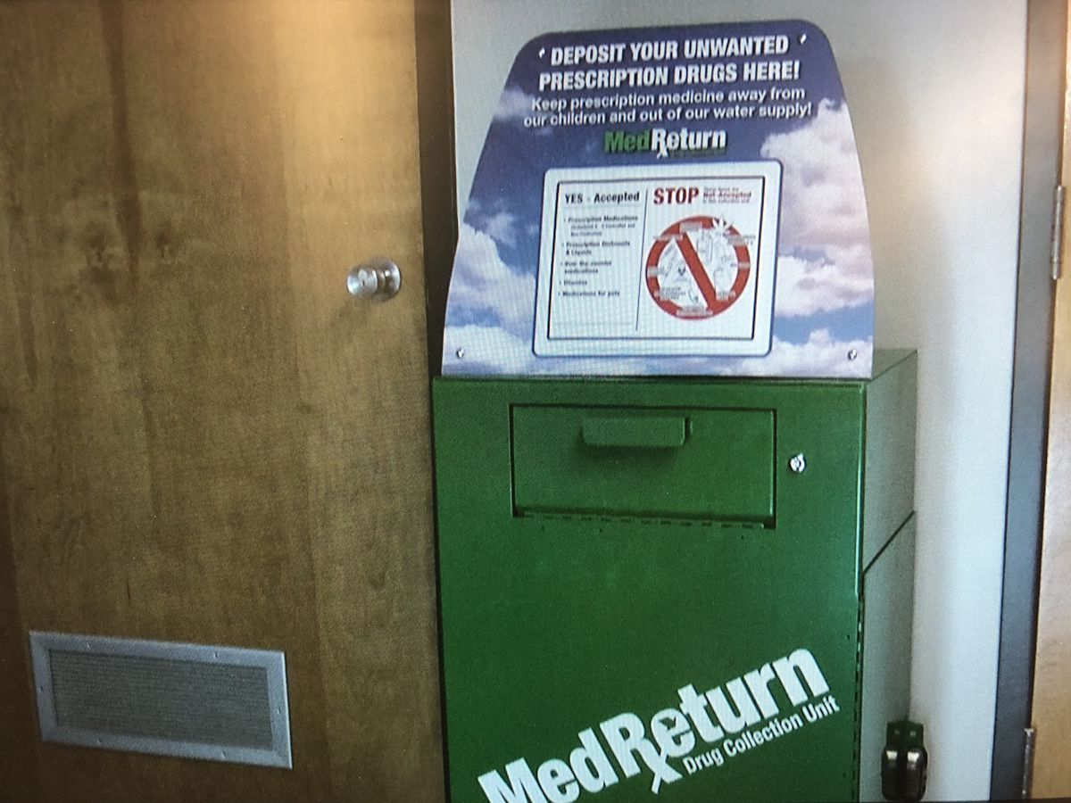 Southeast campus prescription drug drop off box available for use