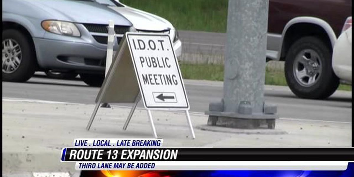 IDOT holds open house on Route 13 expansion