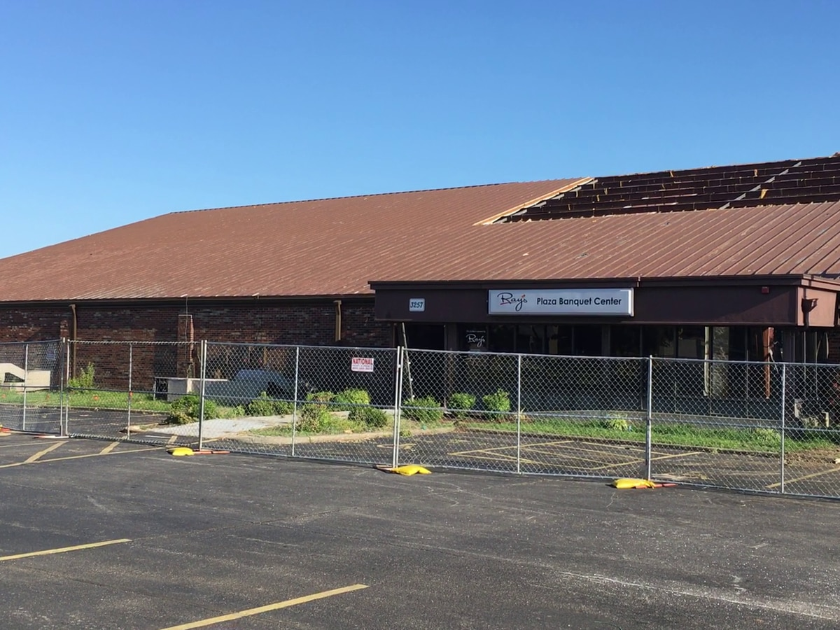 Demolition underway at Ray's Plaza Banquet Center