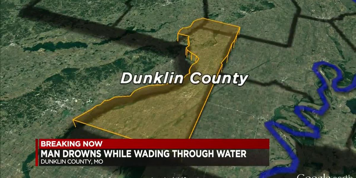 Man drowns while wading through river
