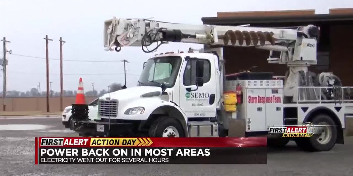 Power back on in most areas of the Heartland