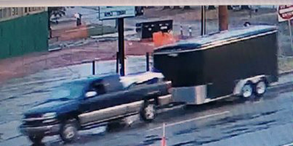 Trailer stolen from work site at restaurant, police investigating