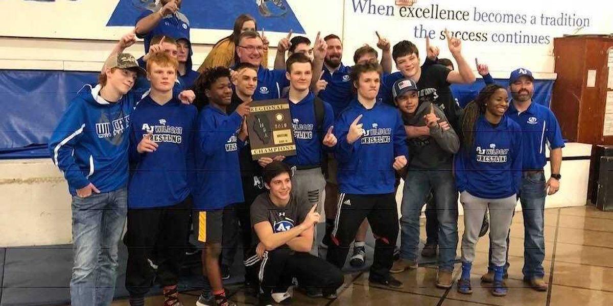 Anna-Jonesboro Wildcats Win IHSA Wrestling Regional For Second Year In A Row