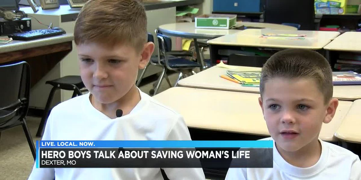 Hero boys talk about saving woman's life