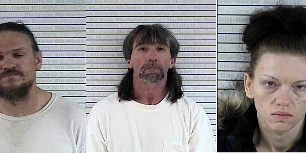 3 arrested on drug charges after stolen vehicle is found