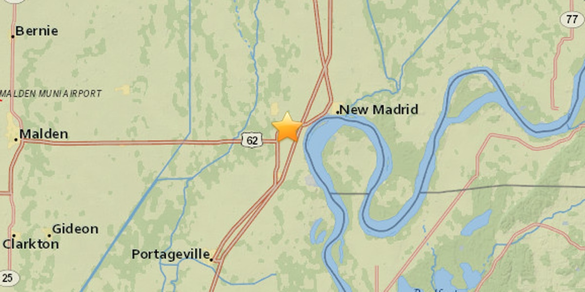 2.9 magnitude earthquake reported in New Madrid Co., MO