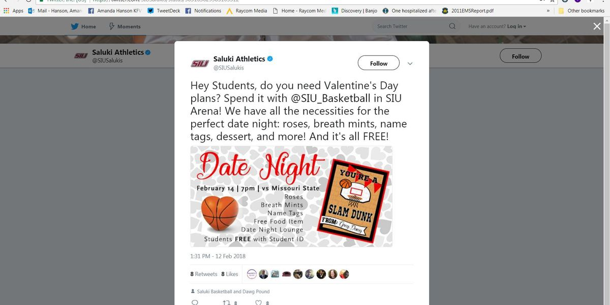 SIU game promotes date night to find love