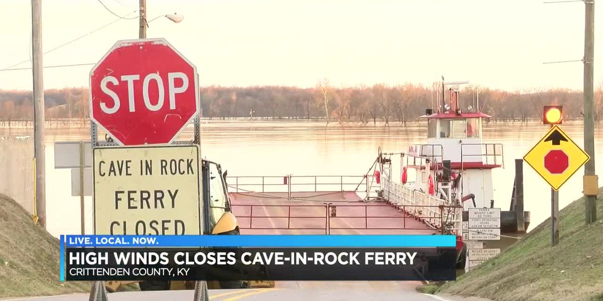 Cave In Rock Ferry closed 12/30