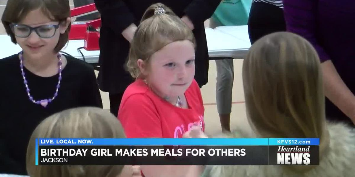 8-year-old girl helps provide 4,000 meals for children for her birthday present