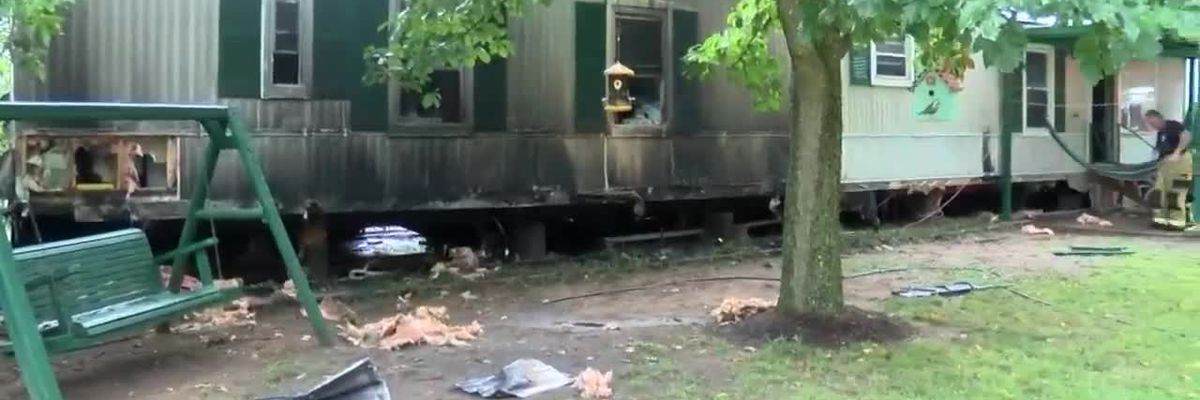 Scott Co. mobile home fire caused by lightning strike
