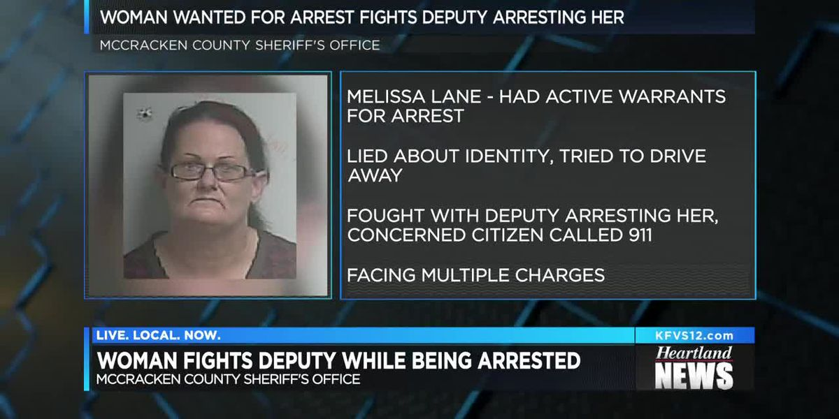McCracken County, KY woman fights deputy while being arrested