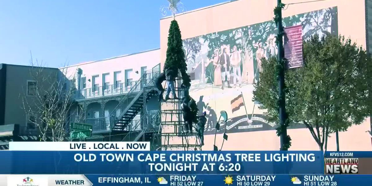 Christmas tree lighting in Cape Girardeau