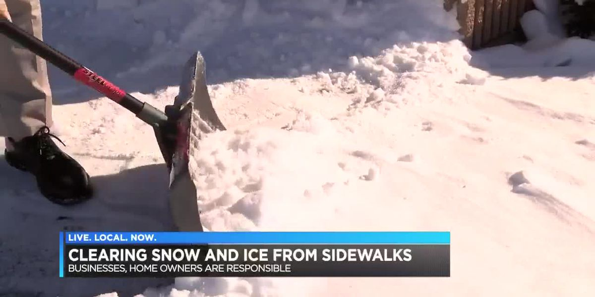 City law says slippery sidewalks are your responsibility
