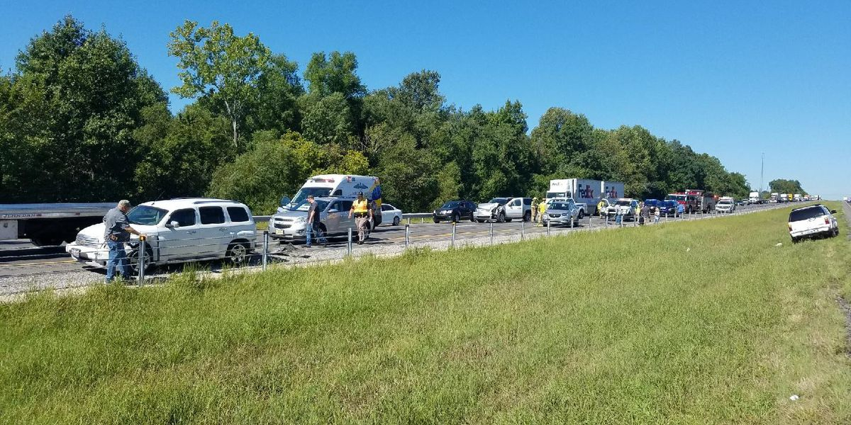 Four vehicle injury collision on I-24 in McCracken Co., KY
