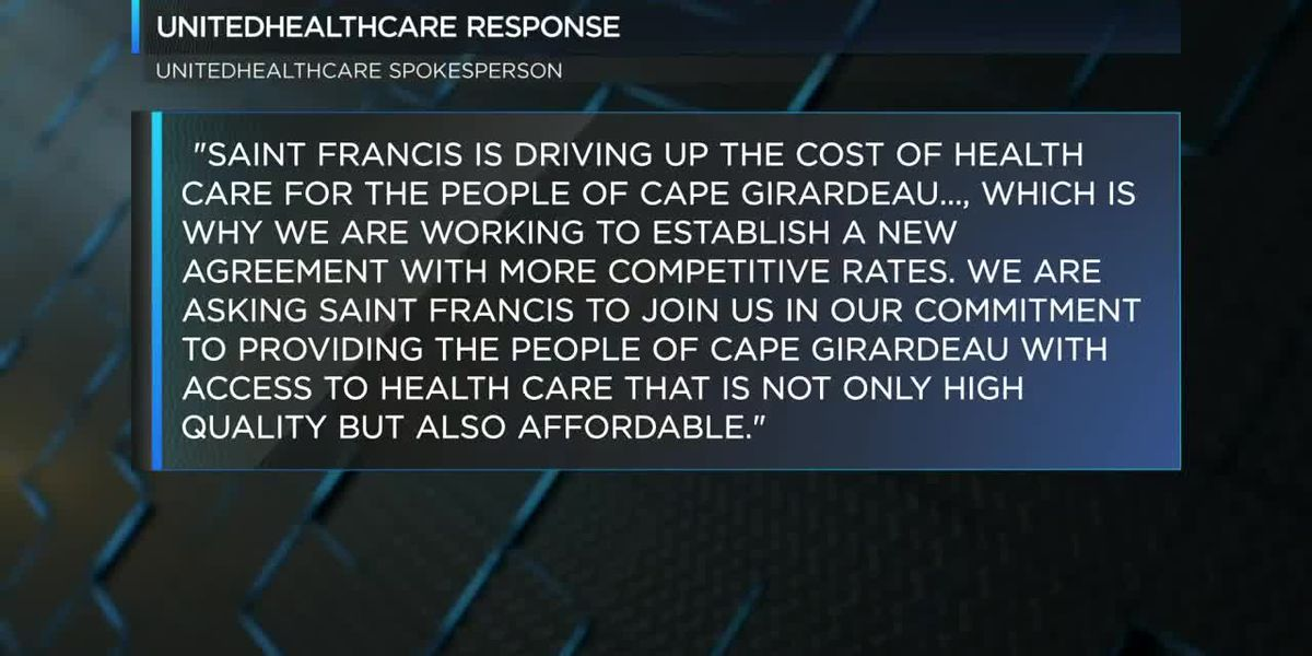 UnitedHealthcare released a statement regarding negotiations with the Saint Francis Health Care system.