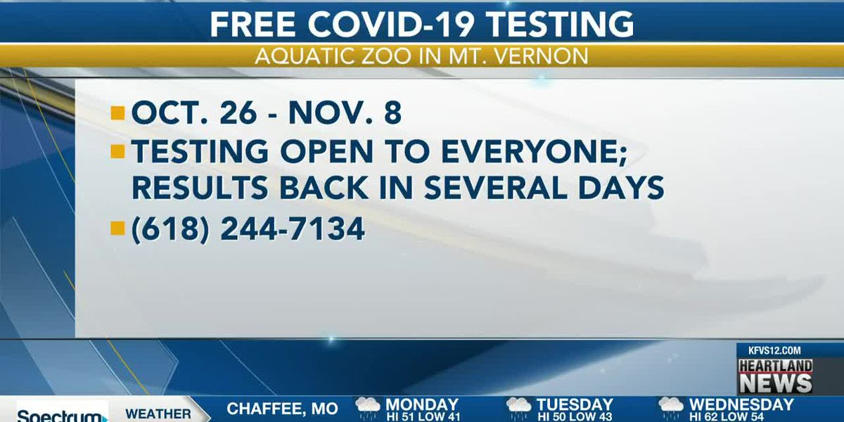 COVID-19 testing events in the Heartland