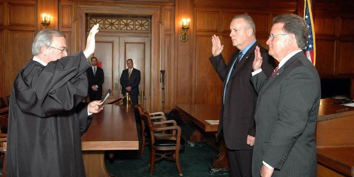 KY Supreme Court Chief Justice swears in new KSP commissioner, deputy commissioner