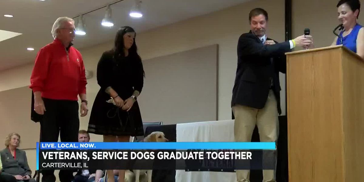 Veterans, service dogs graduate together