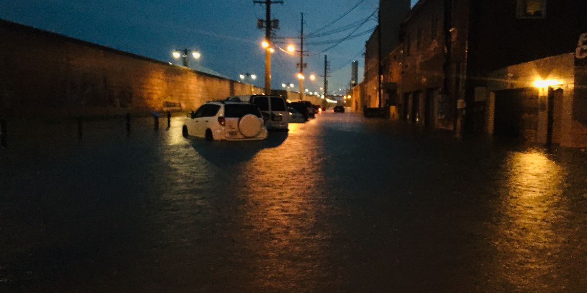 Why did downtown Cape Girardeau flood?