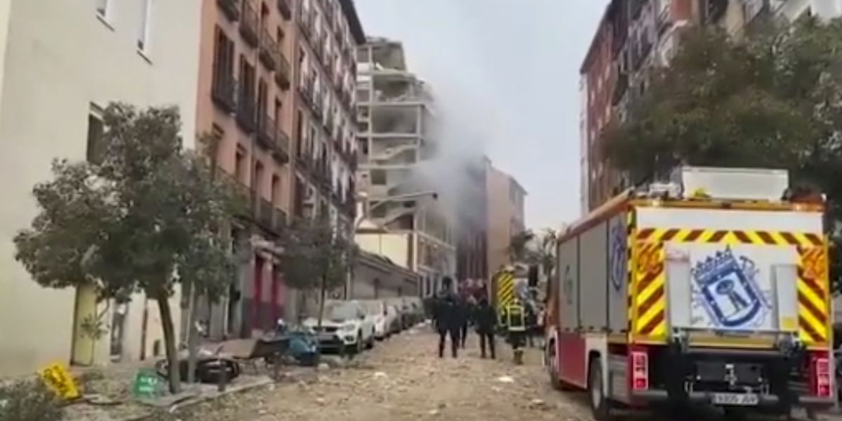 Mayor: Madrid blast kills 2; apparently linked to gas leak