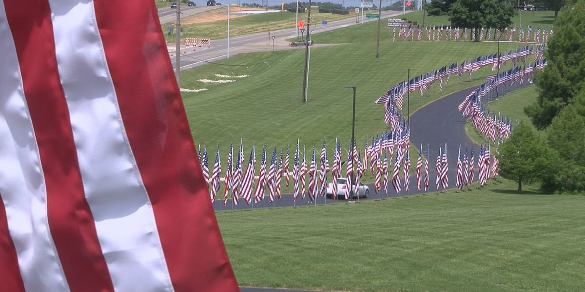 More than 700 flags fly at Avenue of Flags in Cape Girardeau for Flag Day