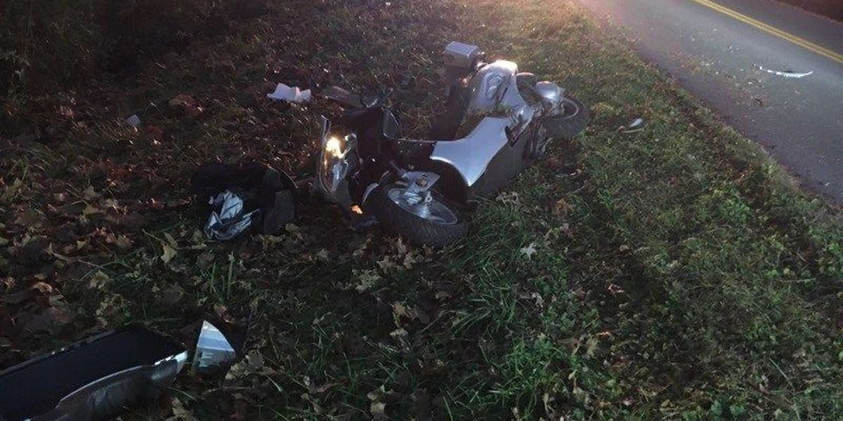 Man, dog hurt after motorcycle crash in Graves Co., KY