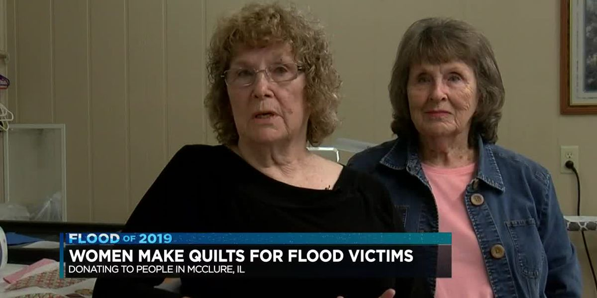 Heartland women make quilts for Ill. flood victims