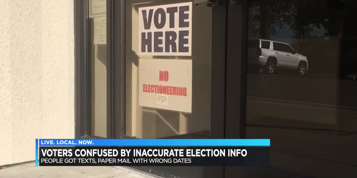 Voters confused after inaccurate information sent out