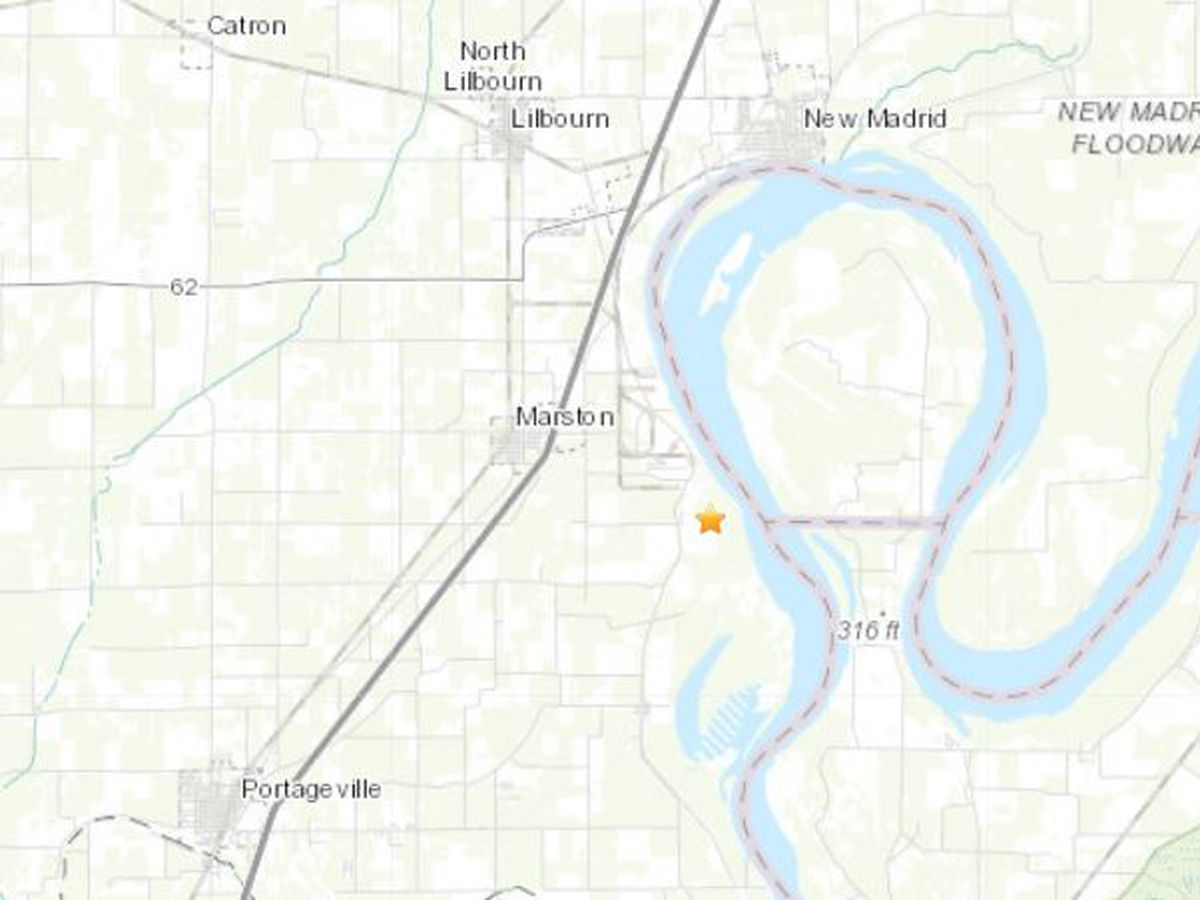 USGS reports 1.5 magnitude earthquake in New Madrid Co., Mo.
