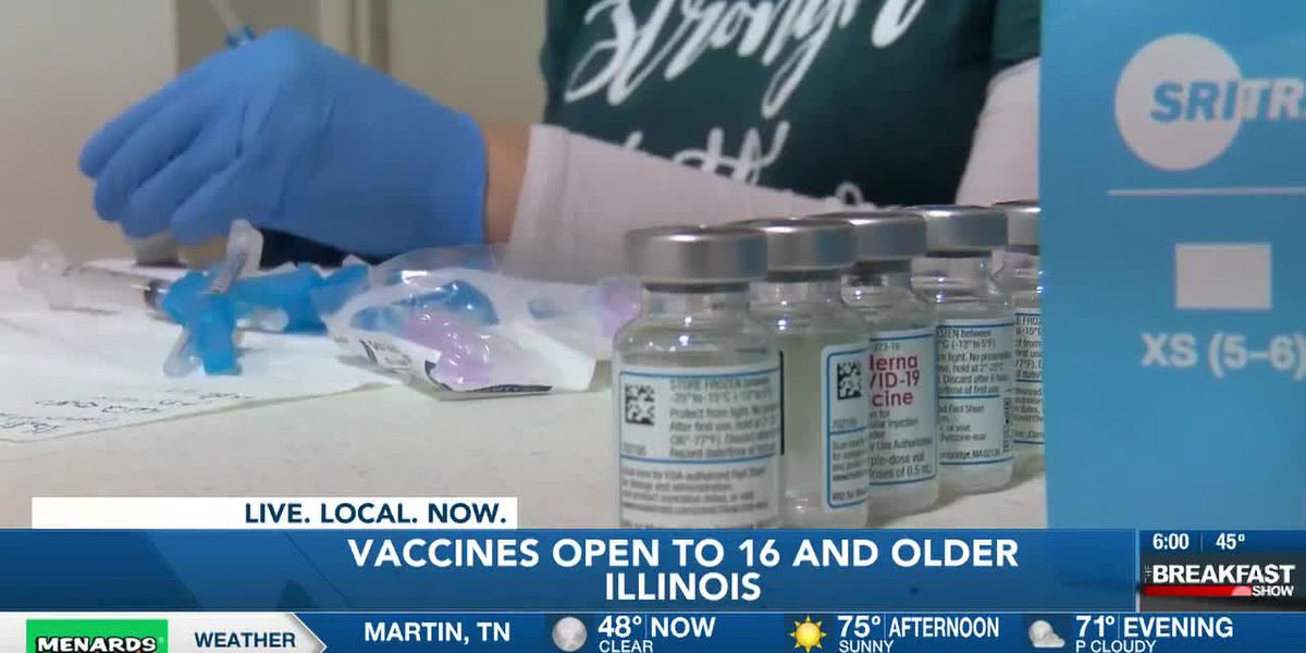 COVID-19 vaccines available to all Illinoisans 16 and older on Monday