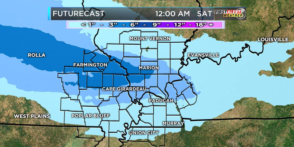 FIRST ALERT: Snow, sleet hits the Heartland