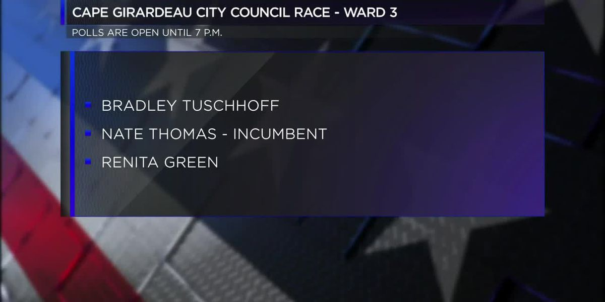 Cape Girardeau's Ward 3 council primary election today