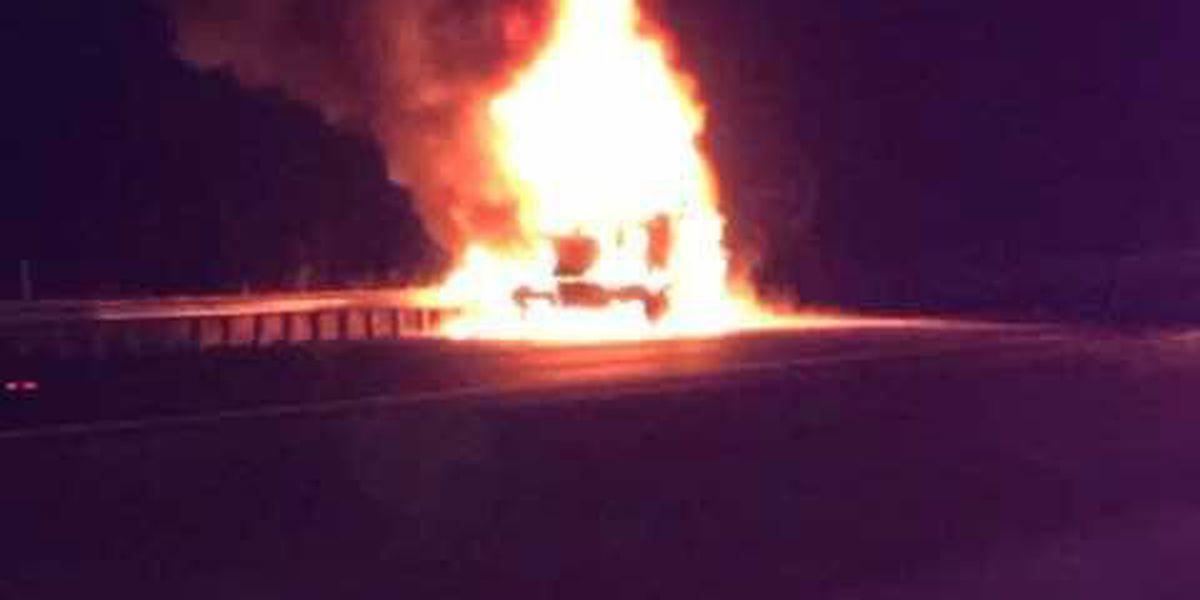 Truck crashes near Cairo, IL bridge