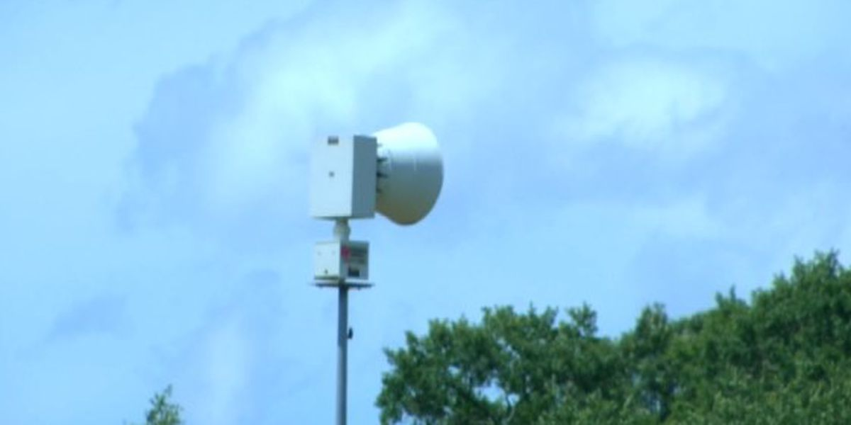 Downtown Perryville tornado siren down
