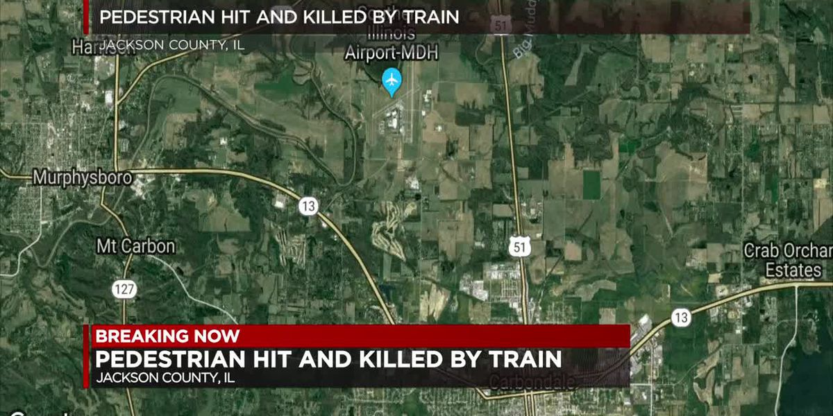 Pedestrian hit and killed by train in Jackson County, IL