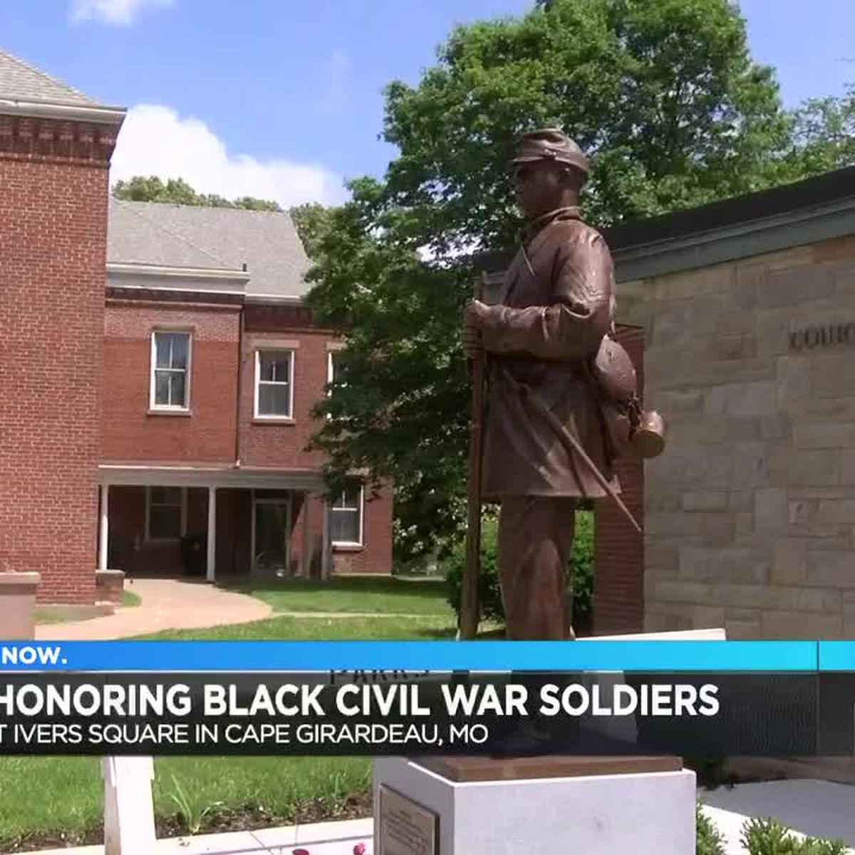 Statue honoring black Civil War soldiers installed in Cape Girardeau