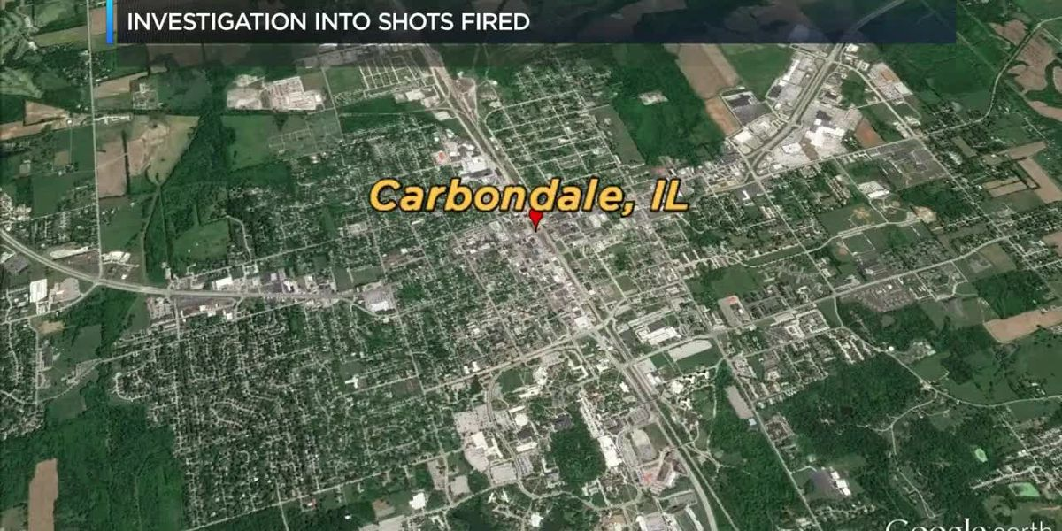Authorities in Carbondale Ill. investigate the report of shots fired