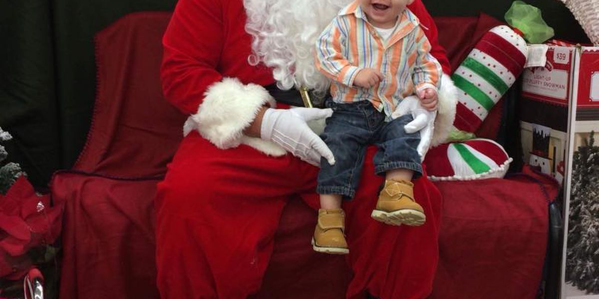 People line up for photos with Santa across the Heartland