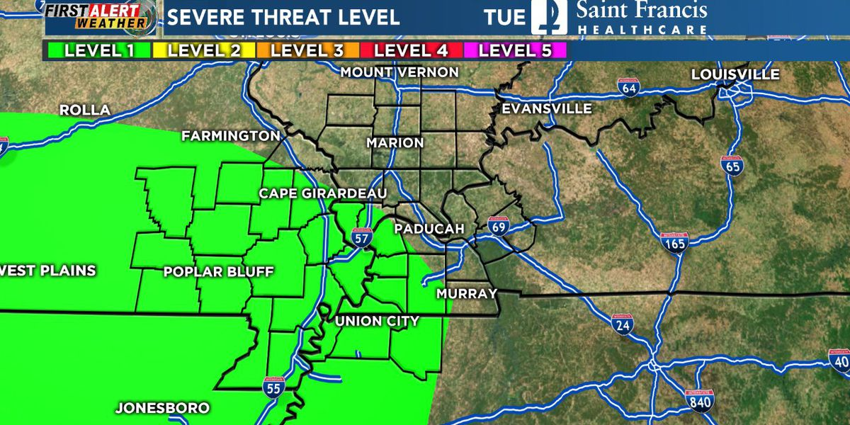 First Alert: Strong storms possible tonight, tomorrow