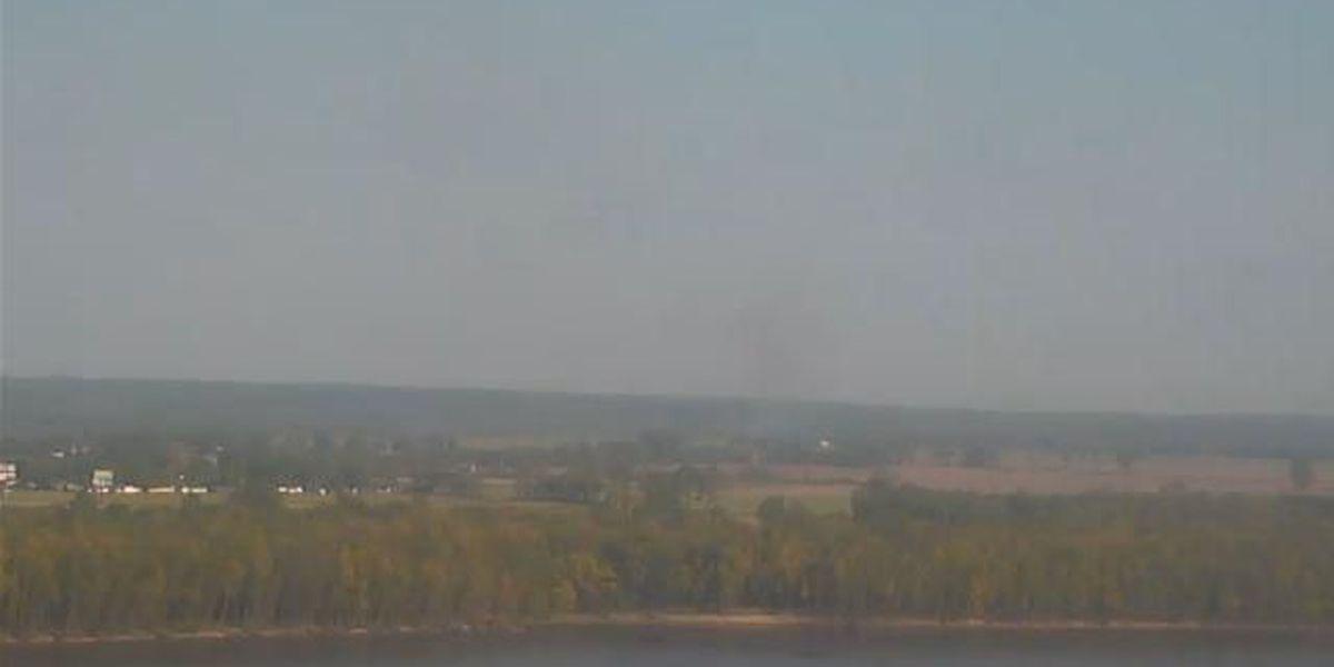 90 acre wildfire in Alexander County, IL still smoldering