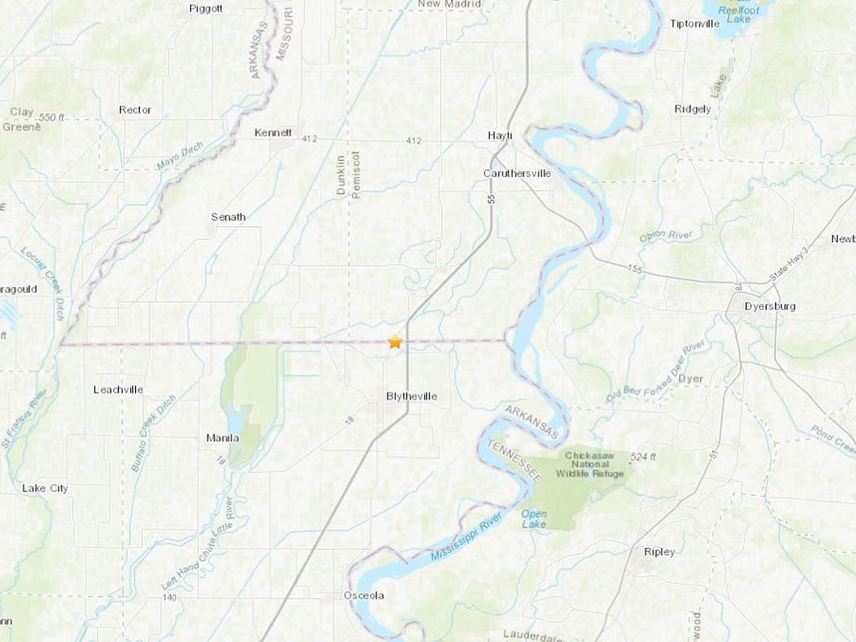 Magnitude 2.3 earthquake shakes near Holland Mo.