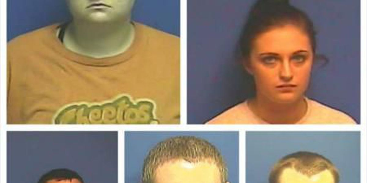 5 charged with engaging in organized crime