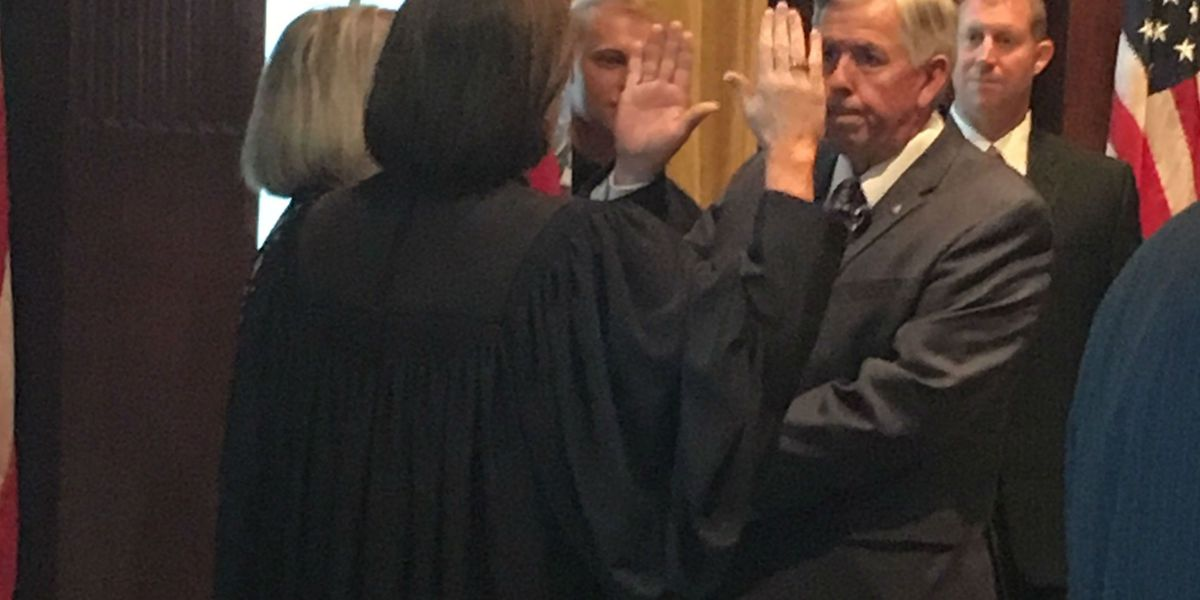 Mike Parson sworn in as 57th Missouri governor