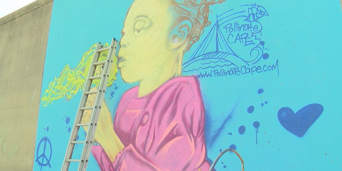 Heartland artist creates Downtown Cape Girardeau mural