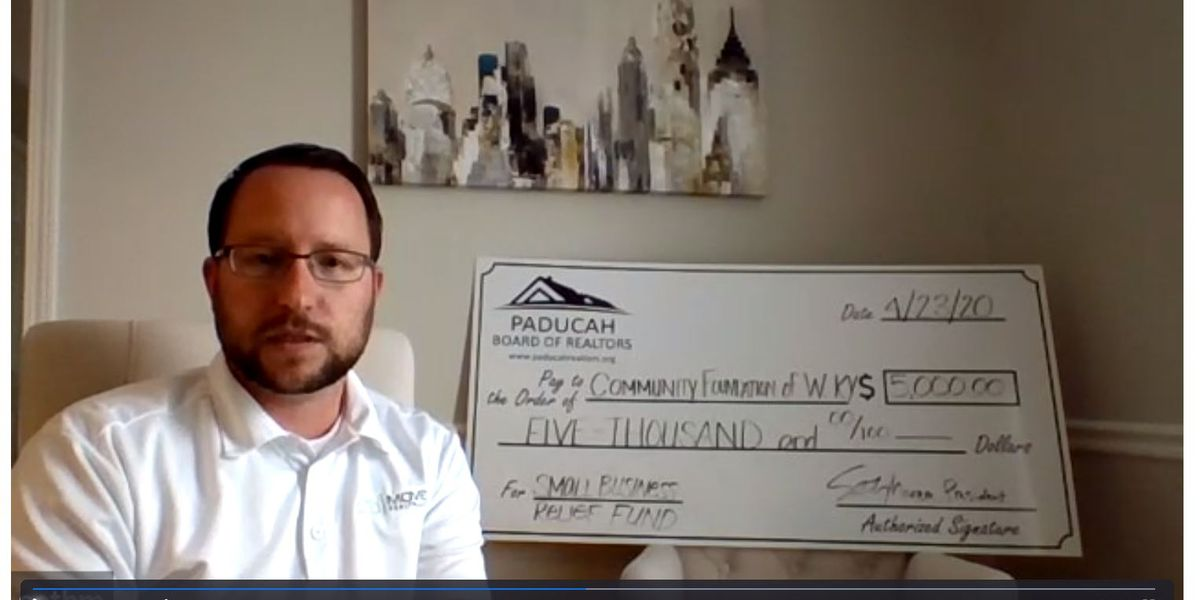 Paducah Board of Realtors donates $5K for small business relief fund