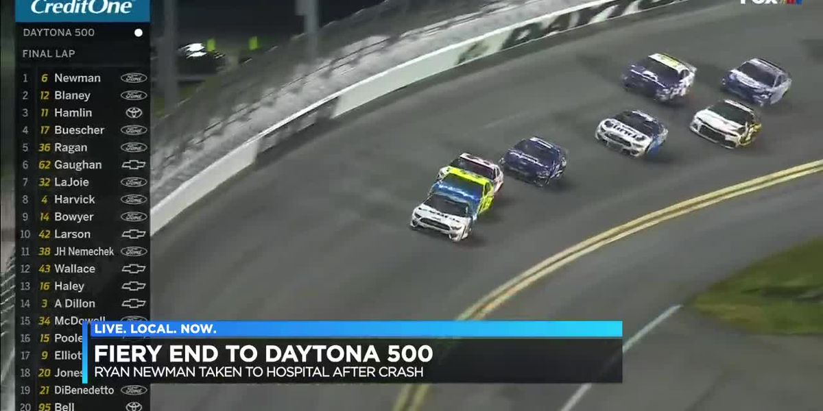 Denny Hamlin declared winner of the Daytona 500; Newman in serious condition